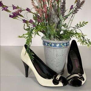 Stylish Connie peep toe heels